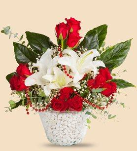 çiçek Buketleri Vazolu Demet Buket çeşitleri Sipariş